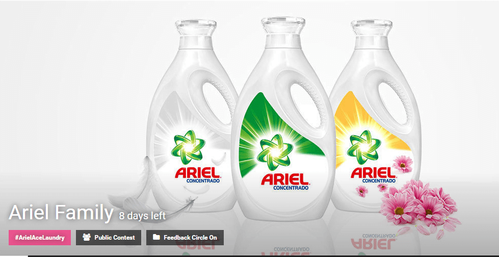 Create premium label designs for Ariel Family products competition
