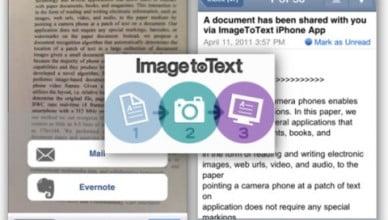 Cognizant text recognition app