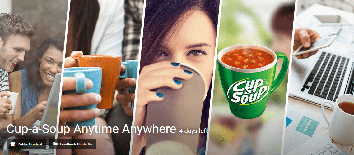 Cup-a-Soup Anytime Anywhere innovation challenge by Eyeka