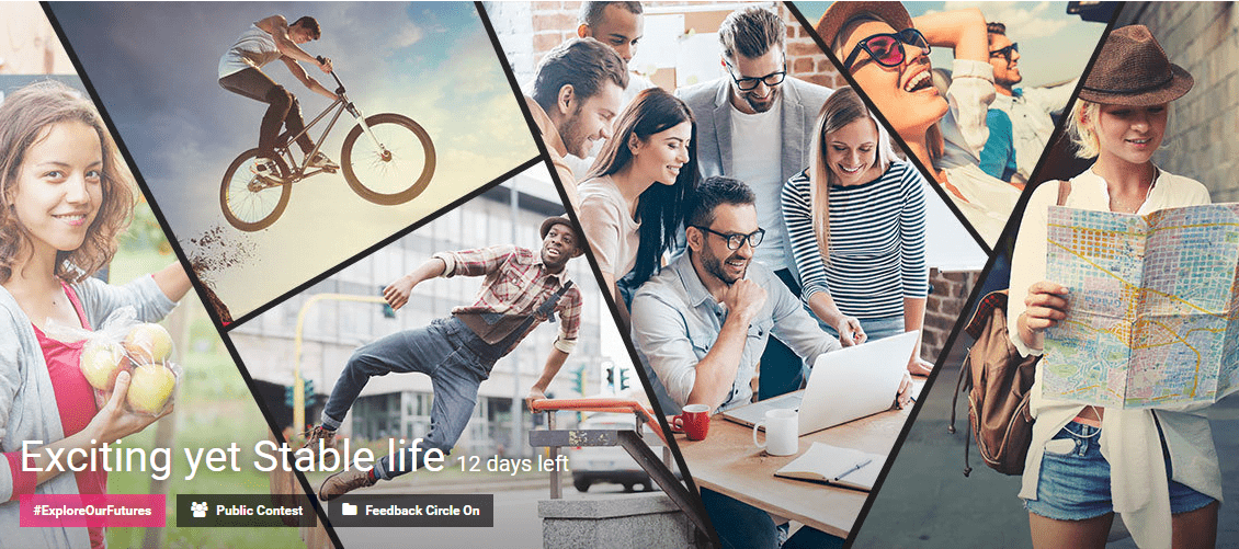 Exciting yet Stable life contest by Eyeka