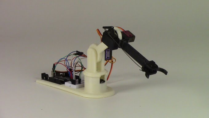LittleArm A 3-D Printed Arduino Robot Arm