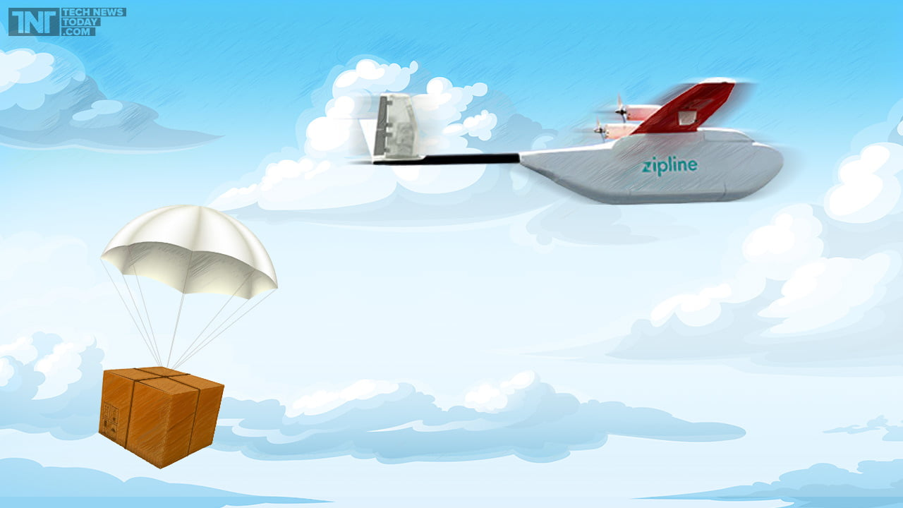 Zipline drone medi delivery