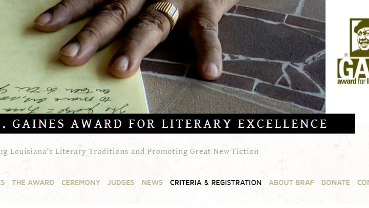 ERNEST J. GAINES Literacy excellence award