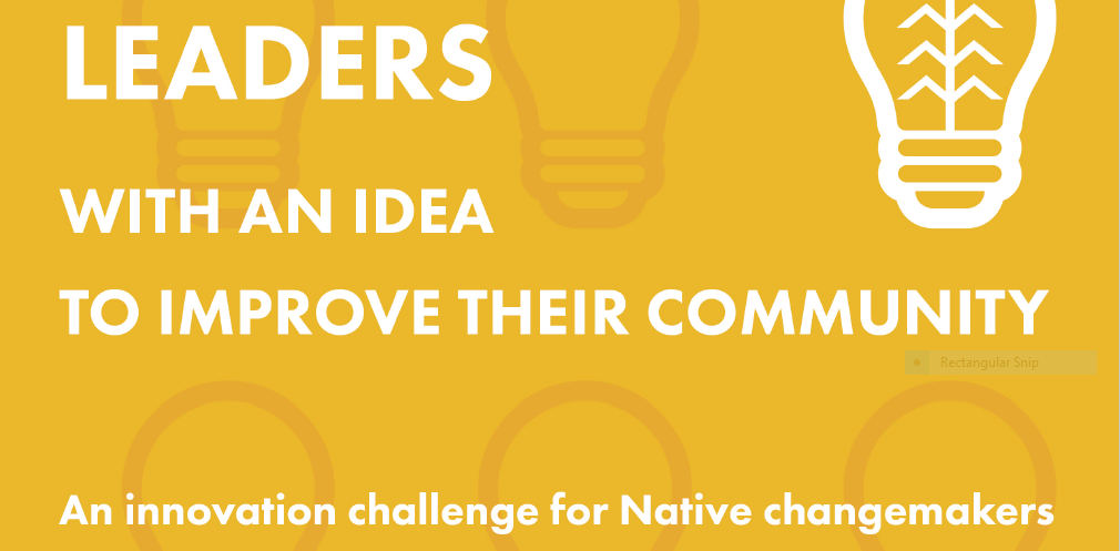 An Innovation Challenge for Native Changemakers