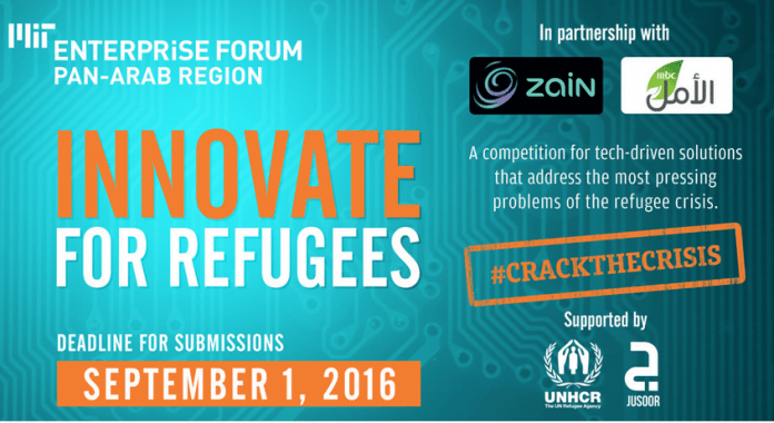 MIT Enterprise Forum Pan Arab Innovate for Refugees Global Competition 2016