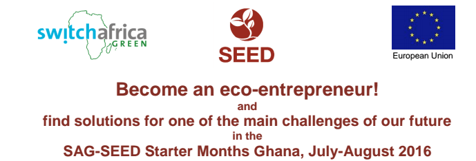The SAG-SEED Starter Ideas Competition