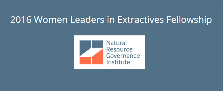 Women Leaders in Extractives Fellowship 2016