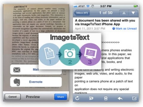 Cognizant text recognition app