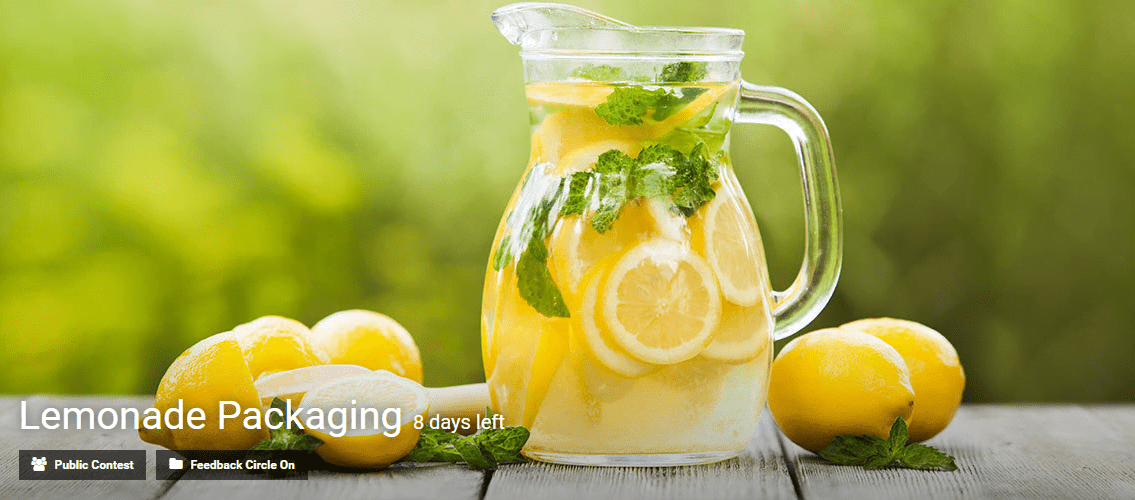 Lemonade Packaging innovation contest by Eyeka