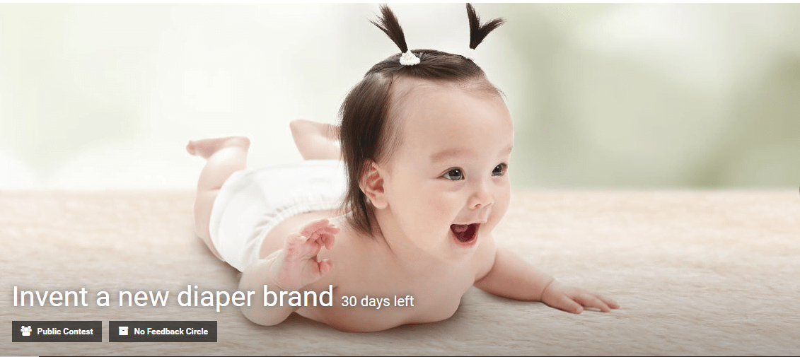 Create a unique and reassuring diaper brand for Chinese mums contest