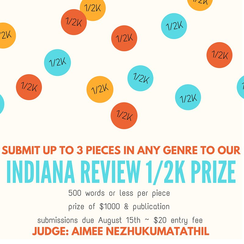 Indiana Review 1/2K Prize for highest quality writing