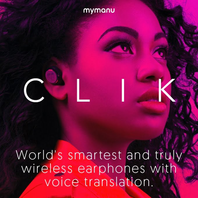 Mymanu CLIK-Truly wireless earbuds with voice translation