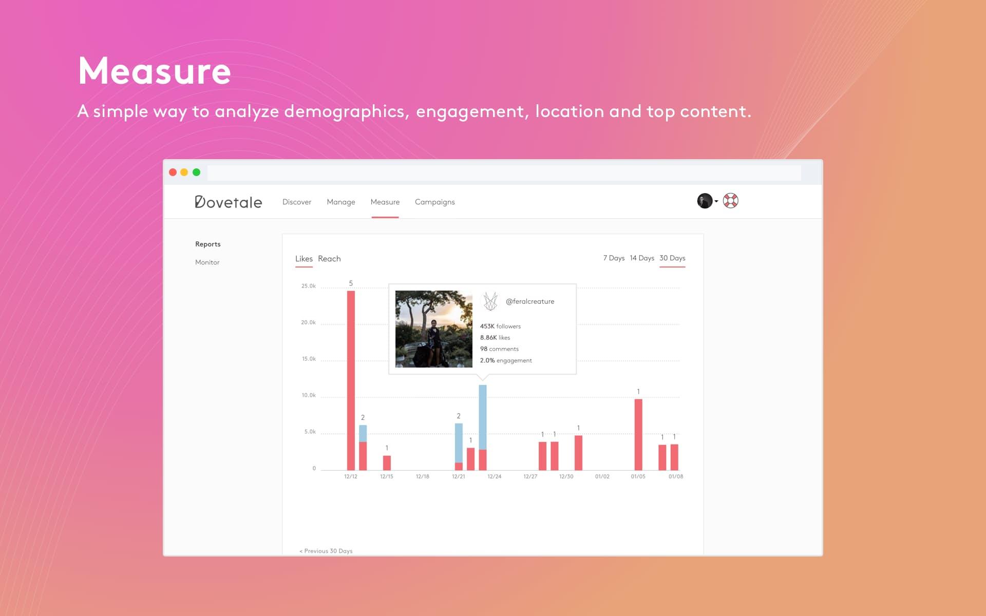 Dovetale influencer market tool