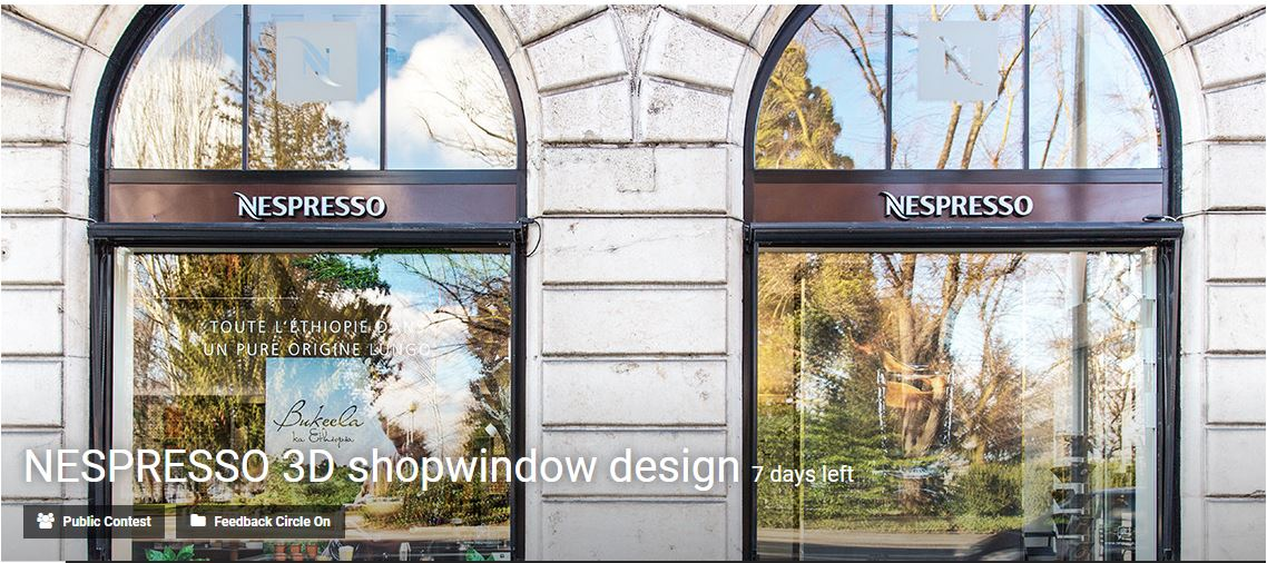 NESPRESSO 3D shopwindow design