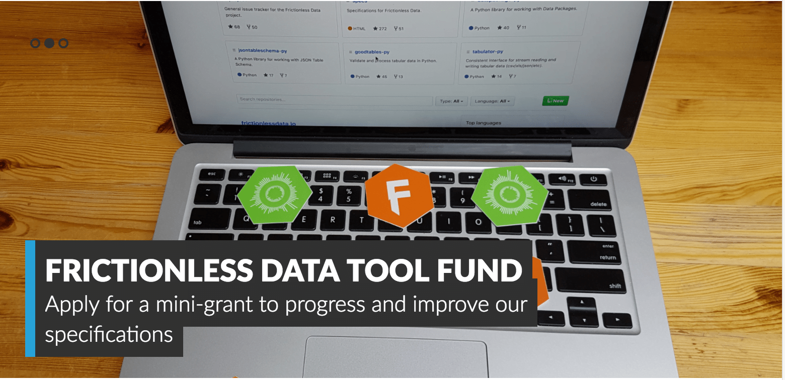 Open Knowledge International 2017 Frictionless Data Tool Fund