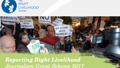 Reporting Right Livelihood Journalism 2017