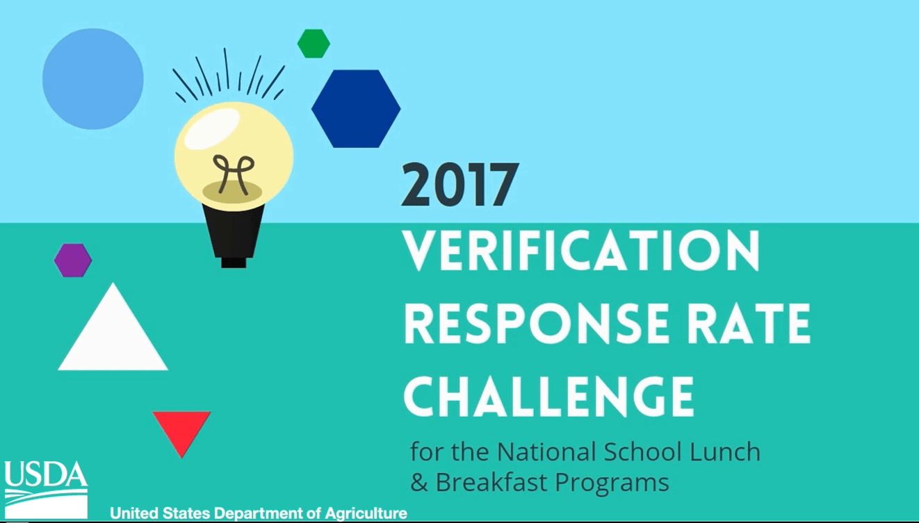 USDA School Meal Programs Verification Response Rate Challenge