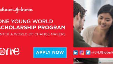 Johnson & Johnson One Young World Scholarship