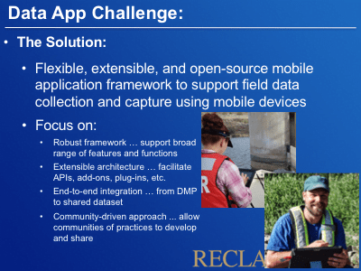DataApp: A Mobile App Framework for Field Data Capture – Stage 1