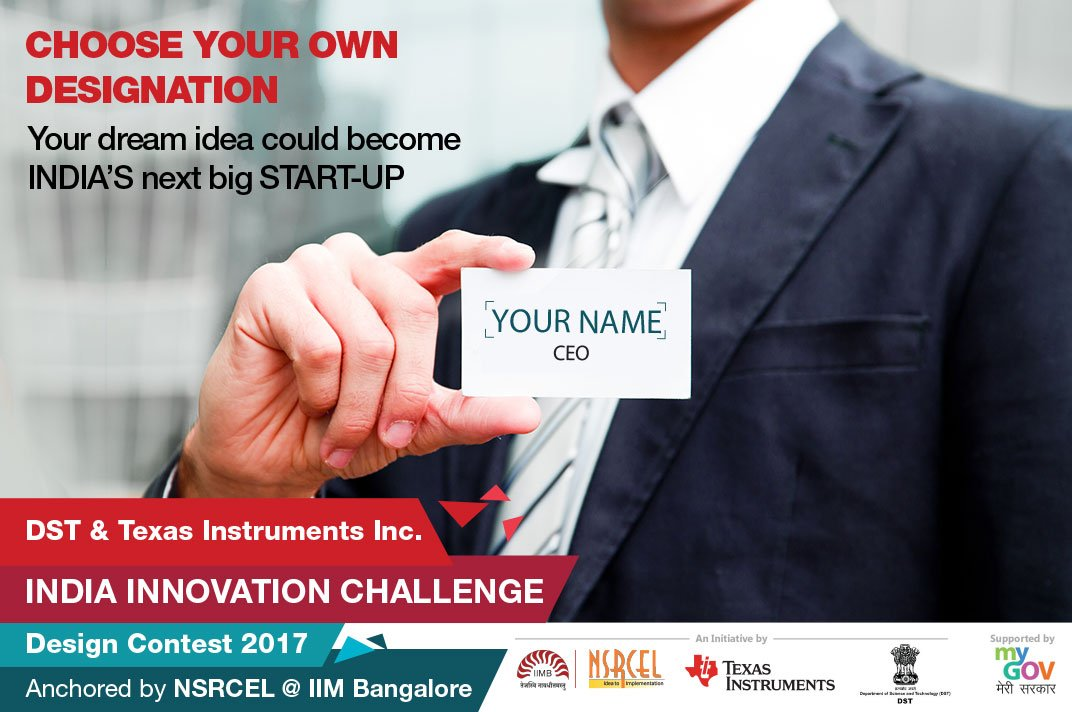 India Innovation Challenge Design Contest 2017