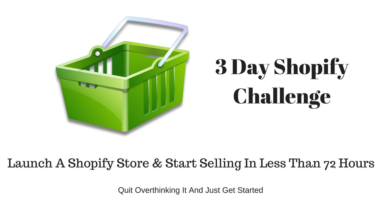 Start an Online Drop shipping store challenge