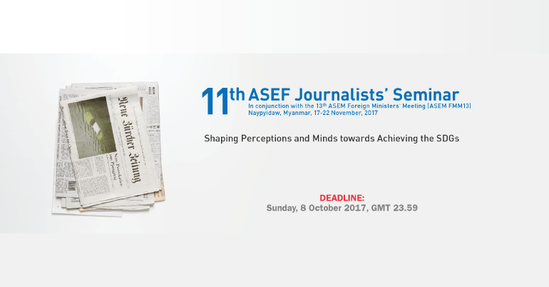 11th ASEF Journalists' Seminar 2017