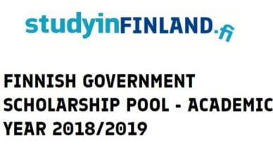 Finnish Government Scholarship Pool 2018