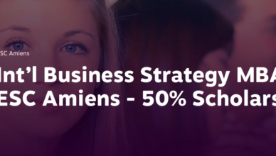 International Business Strategy 50% MBA Scholarship at ESC Amiens