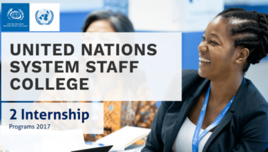 UNSSC Communications and Social Media Internship