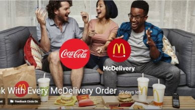 A Drink With Every McDelivery Order challenge