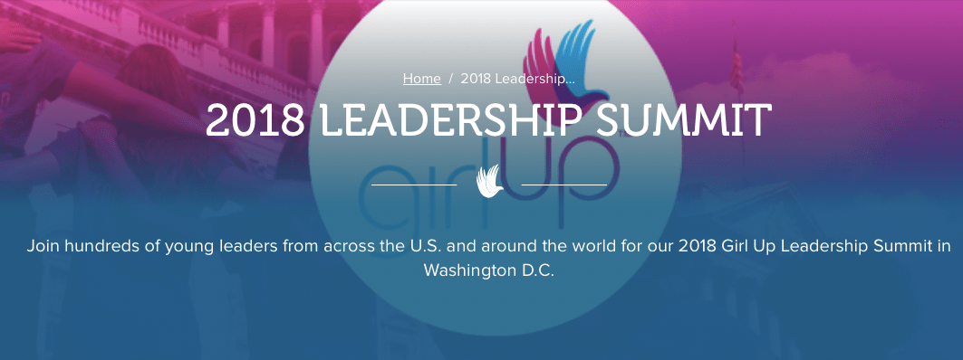 Girl Up Leadership Summit 2018 in USA