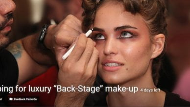 "Shopping for luxury ""Back-Stage"" make-up contest"