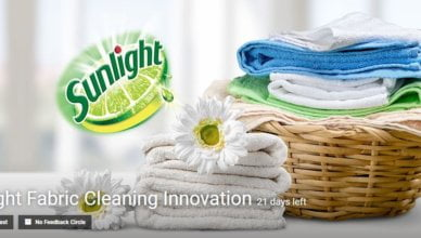Sunlight Fabric Cleaning Innovation challenge