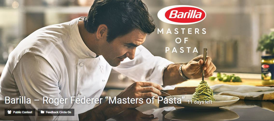 "Barilla – Roger Federer ""Masters of Pasta"" contest"