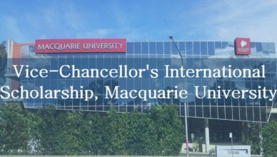 Vice-Chancellor's International Scholarship 2018