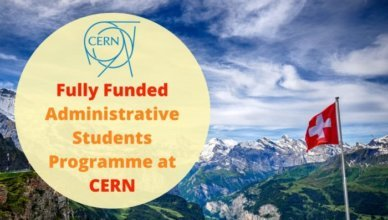 Fully Funded Administrative Students Programme at CERN
