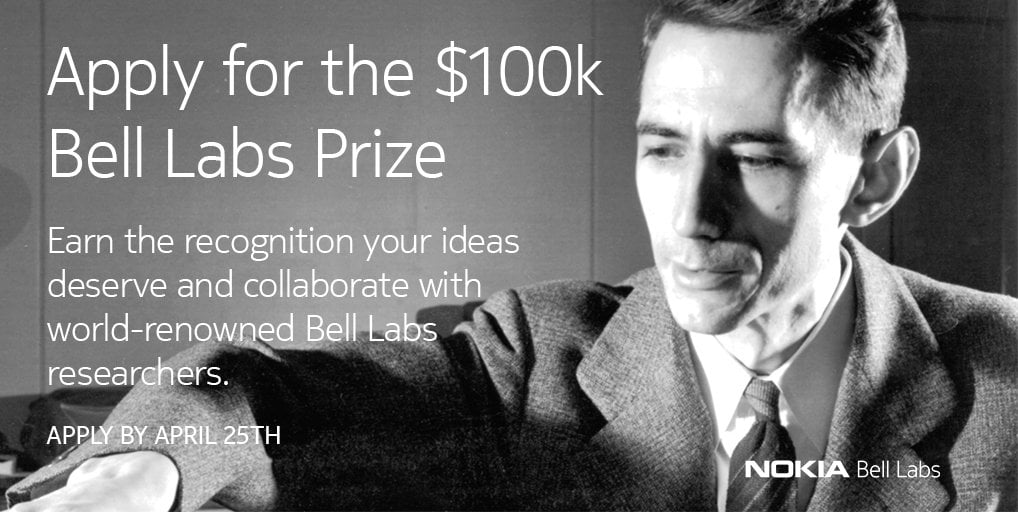 Nokia Bell Labs Prize – Global Competition for Innovators 2018