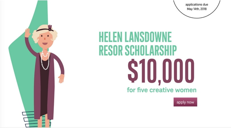 Helen Lansdowne Resor Scholarship 2018 for Creative Women