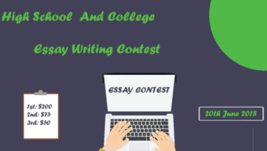 Essay Writing Contest For High School
