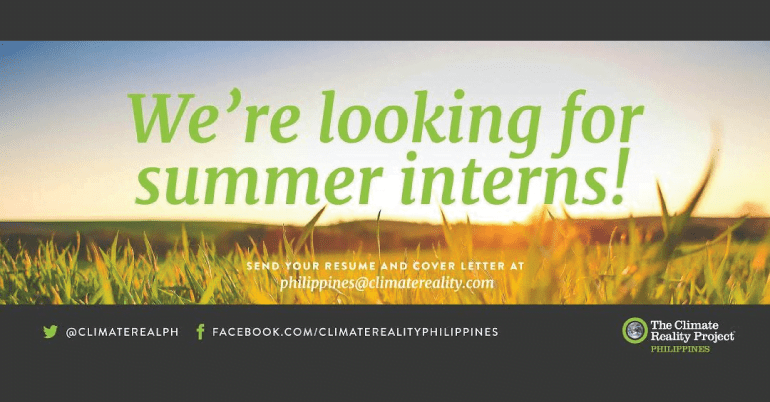 Summer Internship Program in Philippines at The Climate Reality Project