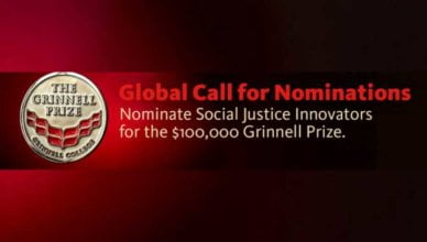 Grinnell College Innovator for Social Justice Prize 2019