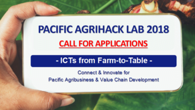 Call for applications: Pacific AgriHack Lab 2018