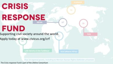 CIVICUS Crisis Response Fund for Civil Society Organisations Worldwide