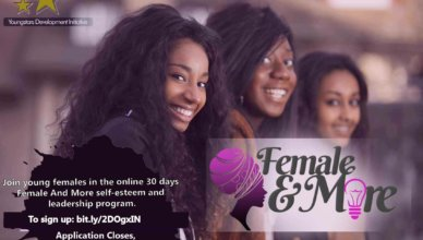 Female And More (FAM) Self-esteem and Leadership Programme 2019