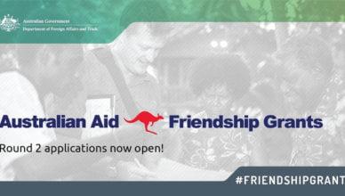 Australian Aid Friendship Grants 2019