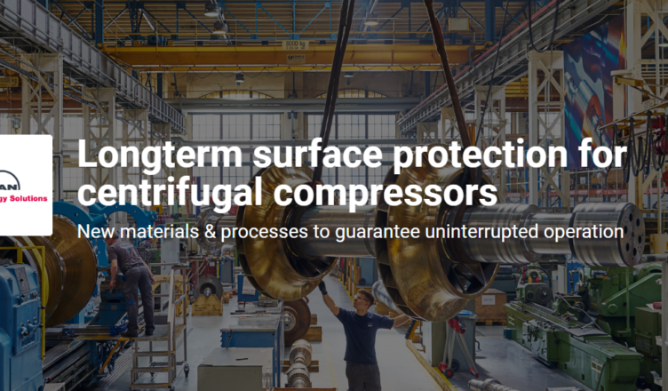 Longterm surface protection for centrifugal compressors challenge
