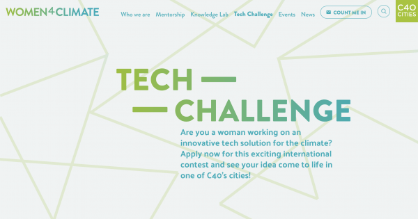 2nd C40 Women4Climate Tech Challenge 2020 challenge