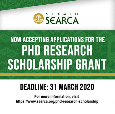 SEARCA Master's and PhD Scholarships 2020