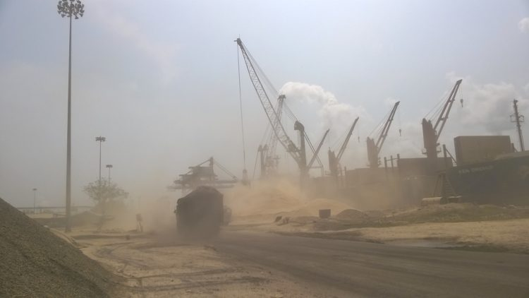 Prevention Of Dust At Berth And Stockyard From Surrounding Area