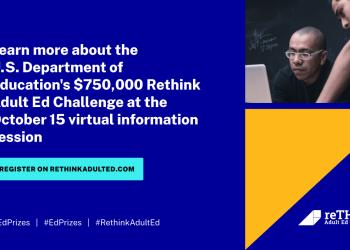 $750,000 Rethink Adult Ed Challenge